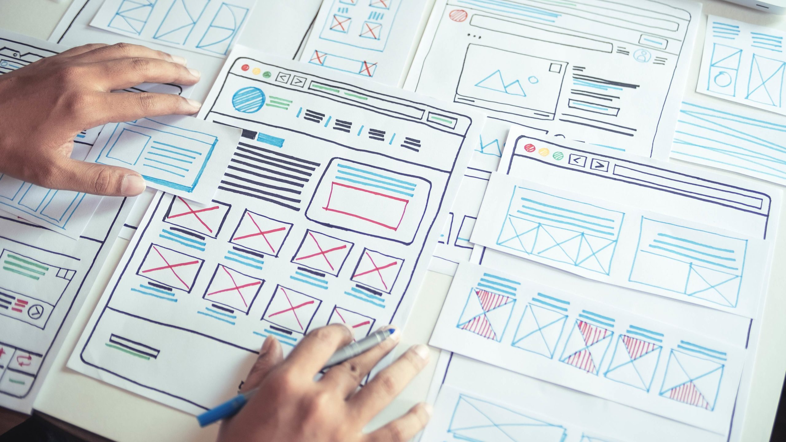 Wireframing and planning a website
